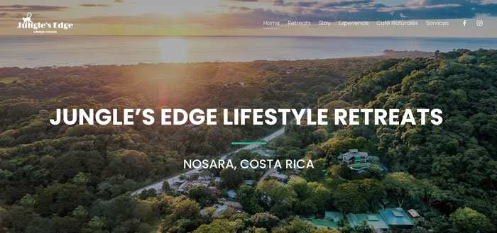 Jungles Edge website