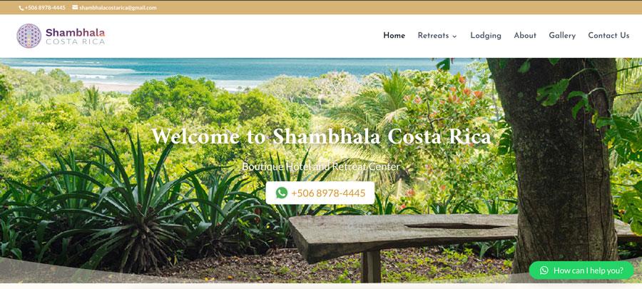 Shambhala Costa Rica website